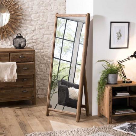 Miroir sur pieds bois Pin recyclé
