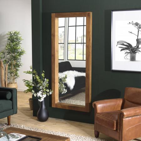 ALIDA - Miroir rectangulaire marron 108x80cm...