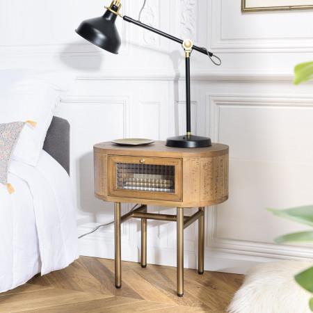 YSEULT - Chevet couleur naturelle bois peuplier...