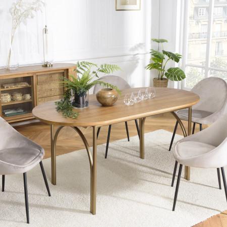 Table à manger bois 160x80cm couleur naturel