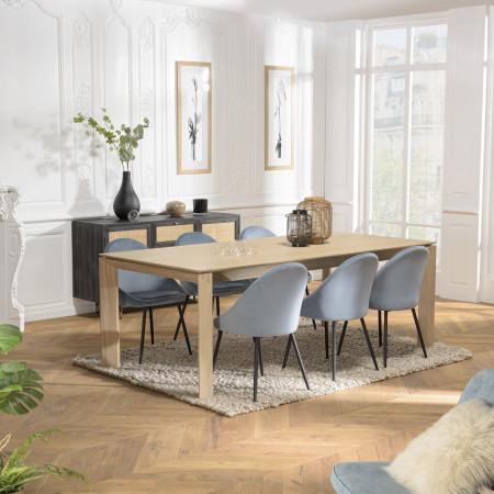 Table à manger extensible 220/320 cm pieds bois...
