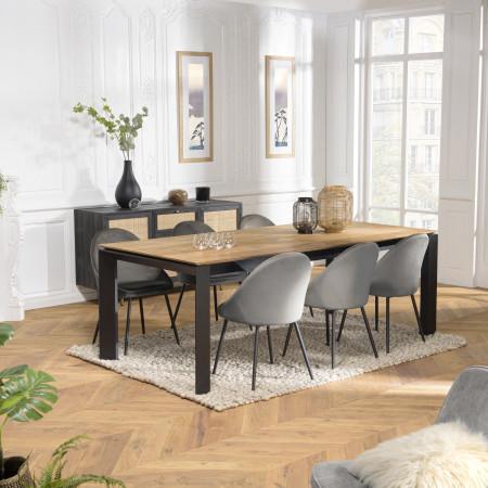 Table à manger extensible 220/320 cm teck...